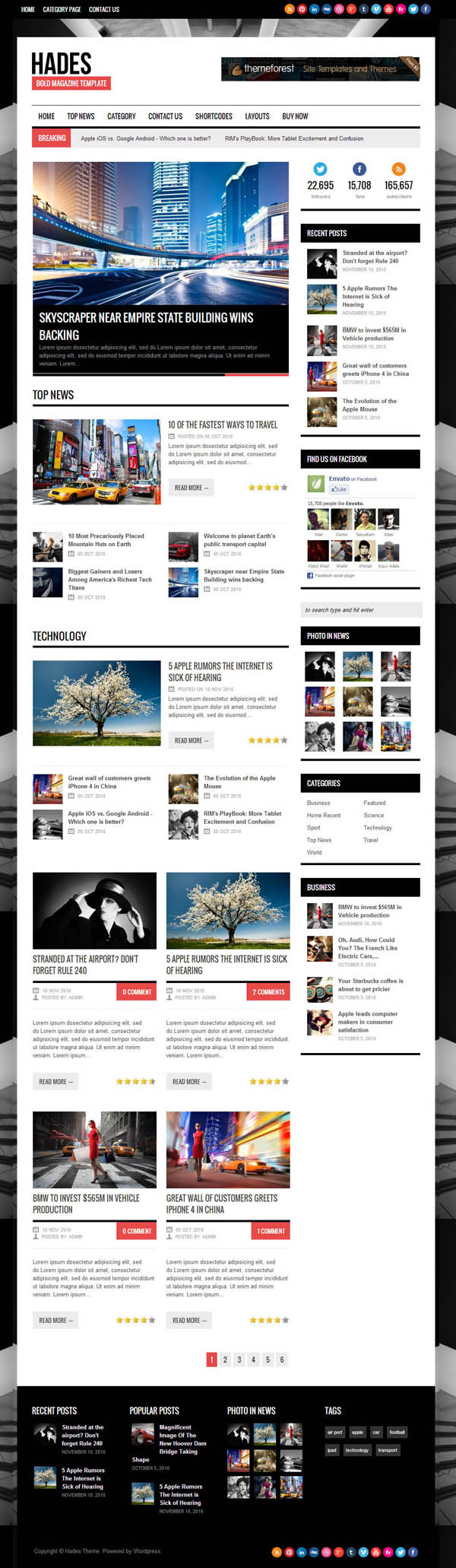 Top Premium News and Magazine Responsive WordPress Themes - 5