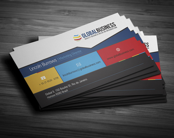 Corporate business cards design design graphic design for Corporate business card designs