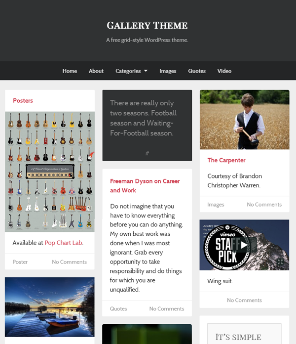 Gallery Responsive WordPress Themes - 2