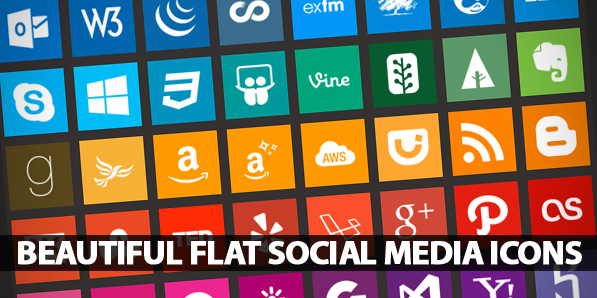 90+ Beautiful Flat Icons of Social Media