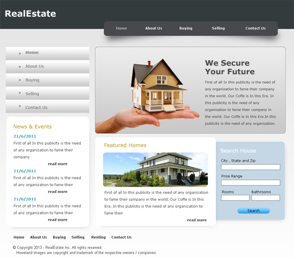 Home Design Website Templates Free Download: Fresh Free PSD Website Templates
