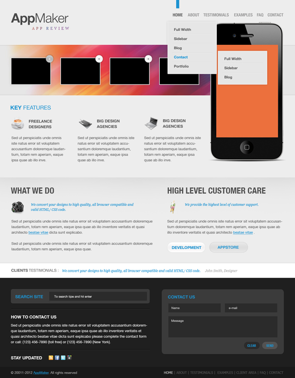 free psd template-9