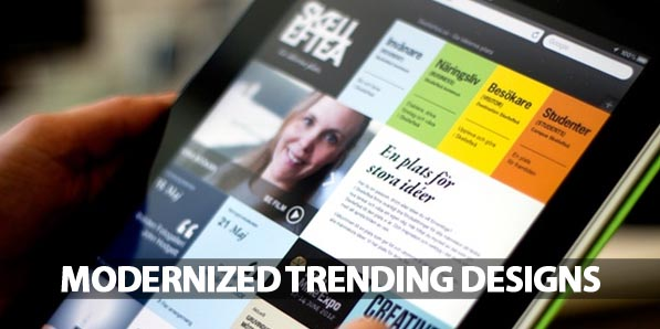 Modernized Trending Designs to Reach the Landing Pages