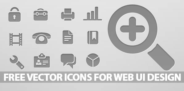 Free Vector Icons for Web UI Design