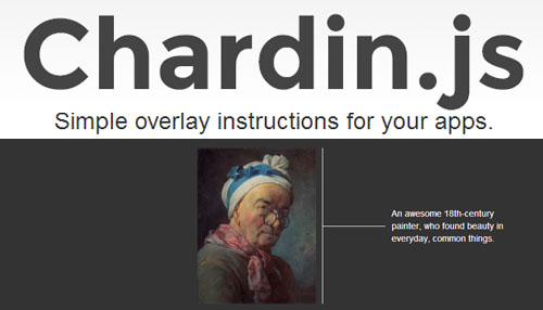 Chardin.js: Overlayed Instructions For Any HTML Element
