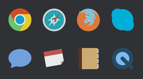Flat Icons and Web Elements for UI Design-17