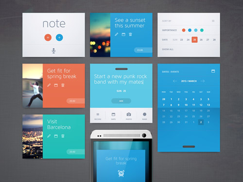 Flat Icons and Web Elements for UI Design-33