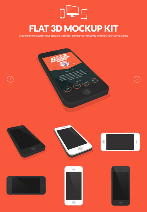 Flat Icons and Web Elements for UI Design-35