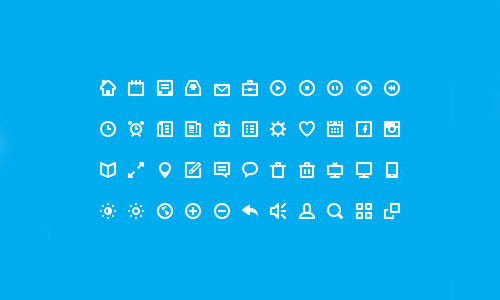 Flat Icons and Web Elements for UI Design-5
