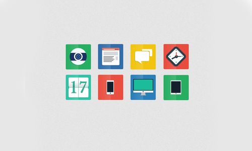 Flat Icons and Web Elements for UI Design-8