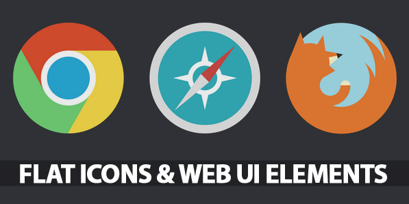 35 Flat Icons and Web Elements for UI Design