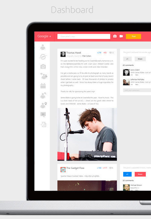 Google+ Redesigned Concept