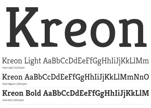 Kreon Free Fonts