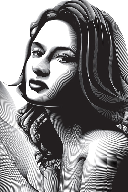 Using the Blend Tool to Create a Halftone Effect Portrait in Adobe Illustrator