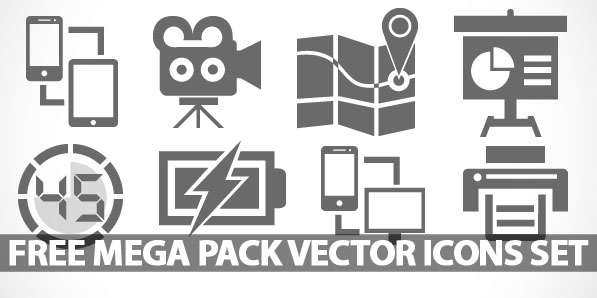 Free Mega Pack Vector Icons Set: 450+ Icons