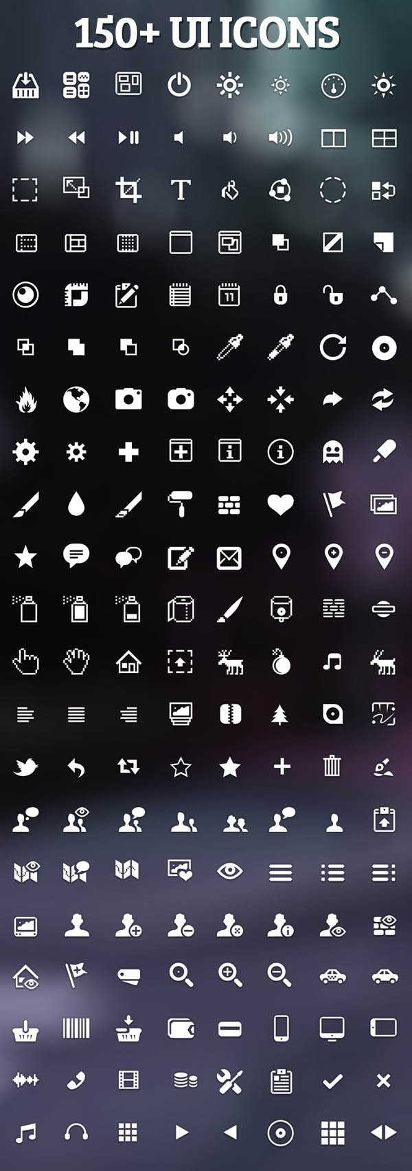 Psd UI Icons - Preview