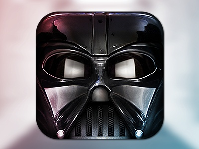 Darth Vader mobile app icons