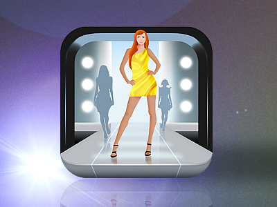 Fashion mobile app icons