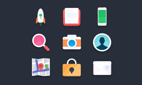 Flat icons (PSD)