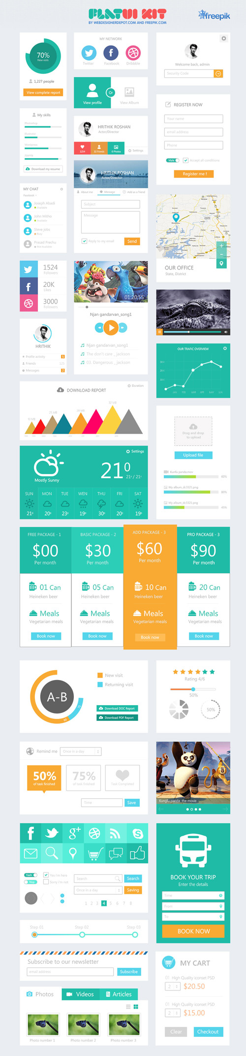 Flat UI Design Elements-40