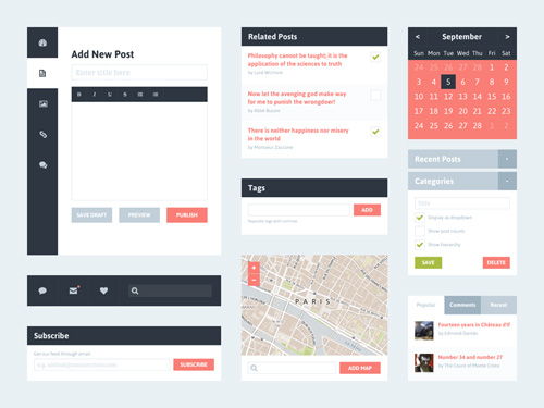 High Quallity Free Flat UI Kits