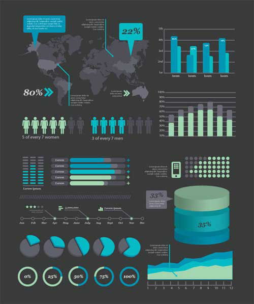 Free Infographics Design Vector Elements | Vector Graphics ...
