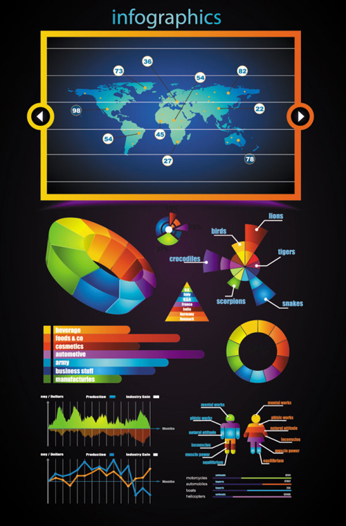 Infographic Vector Elements and Vector Graphics
