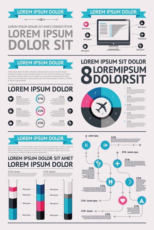 Infographic Templates adobe illustrator infographic templates free : Free Infographics Design Vector Elements | Vector Graphics ...