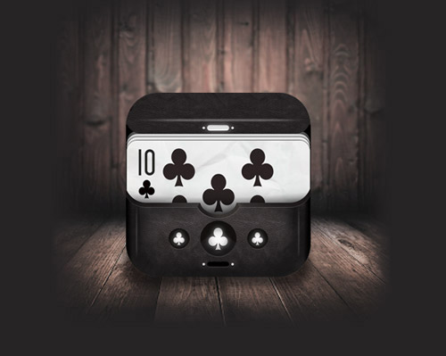 Poker mobile app icons