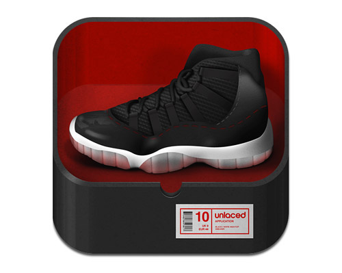 Unlaced mobile app icons