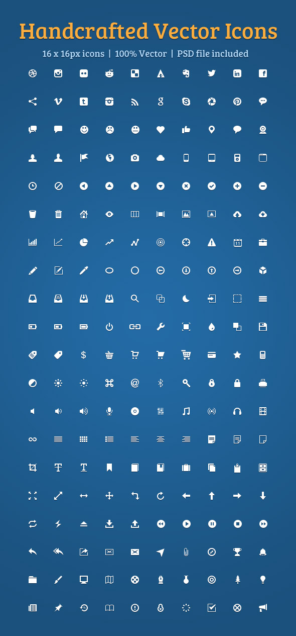 200 Beautiful Vector Icons Set