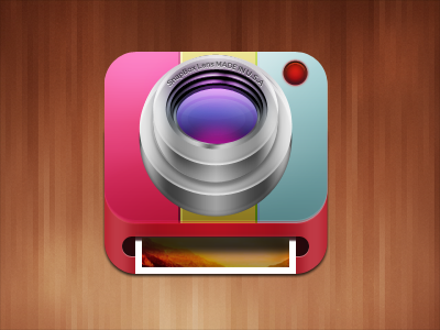 iOS Camera/Printer Mobile App Icons