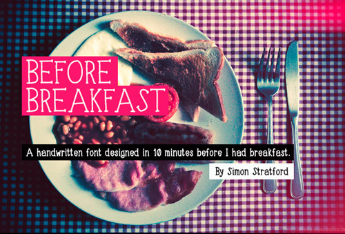 Before Breakfast Free Font