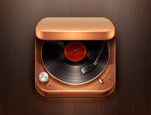 Record Player mobile app icons