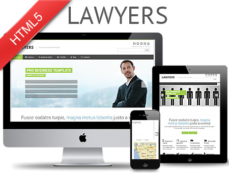 Lawyers – Responsive Web Template