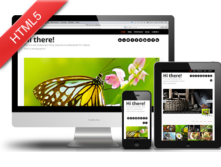 Hi there – Responsive Portfolio for Creative Artist or Photographer