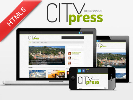 Citypress – Responsive Blog-Like Website Template