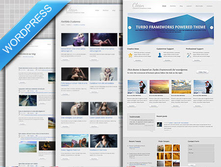 Clean Style premium WordPress Theme
