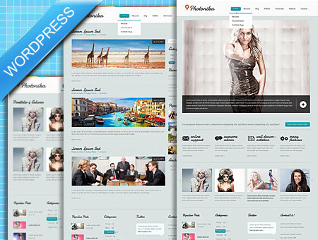 Photographer Blog WordPress Theme