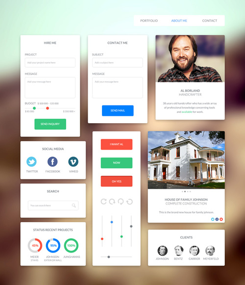 Awesome Flat UI Kit