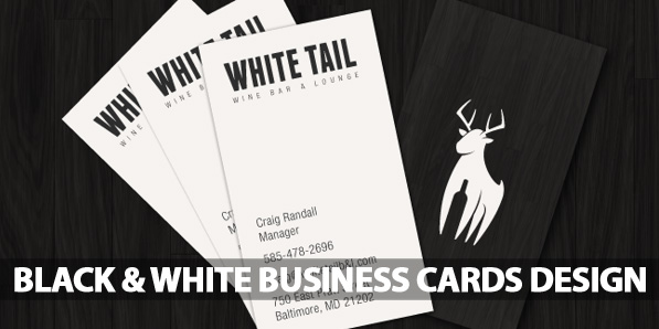 Black and White Business Cards Design (50 Inspiring Examples)