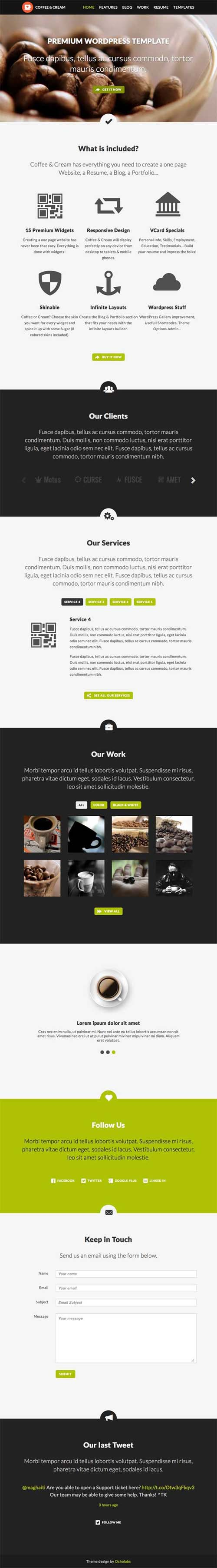 Coffee & Cream | Multipurpose WordPress Theme