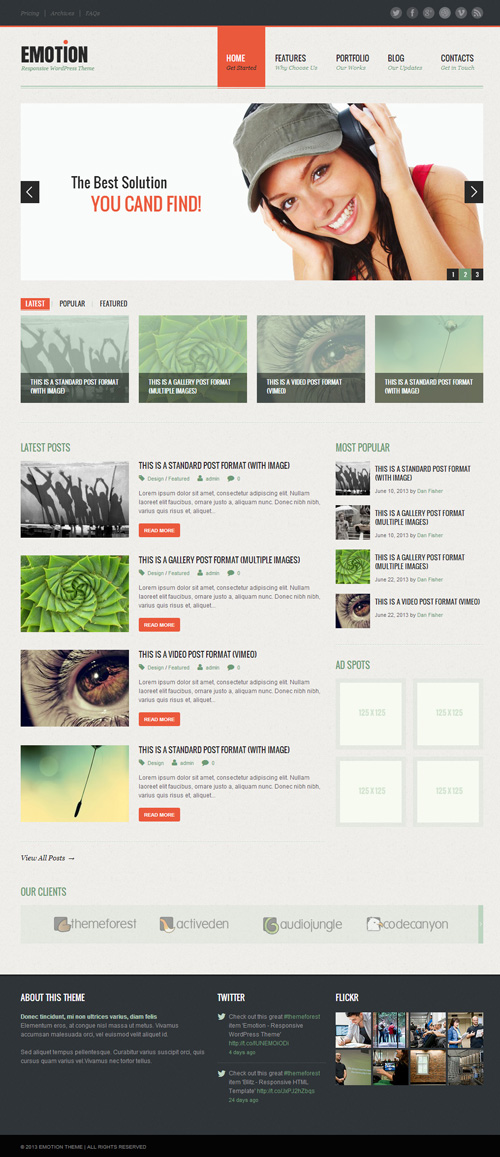 Emotion - Responsive WordPress Theme