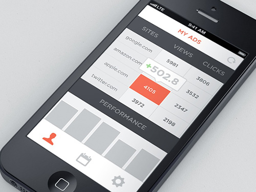 Flat mobile ui design with remarkable user experience for Table design ui
