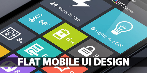 50 Flat Mobile UI Design with Remarkable User Experience