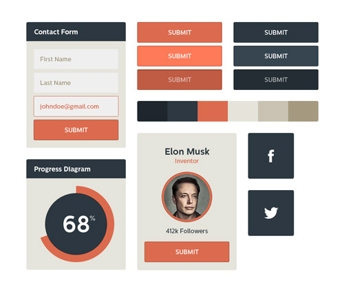 Flat UI Kit - Free Download