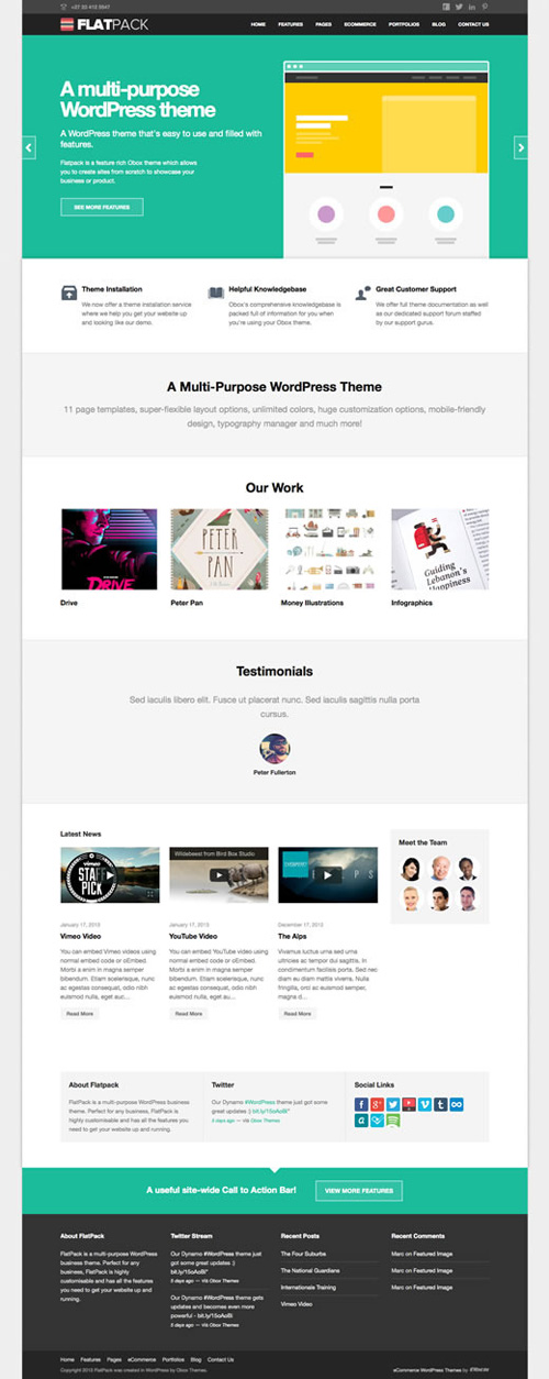 FlatPack - MultiPurpose Business WordPress Theme