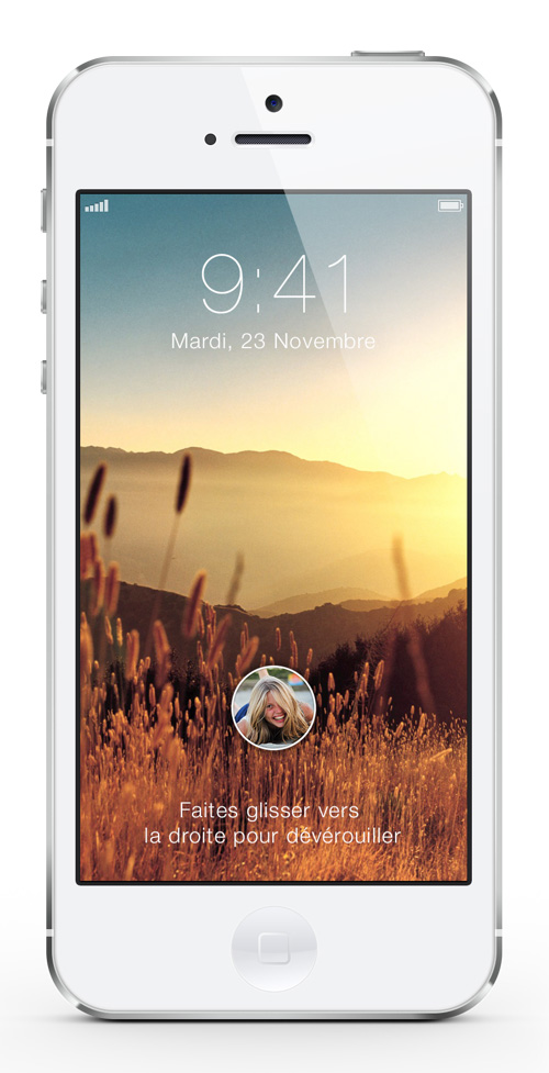 IOS 7 Lockscreen Concept