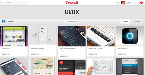 Best UIUX Pinterest Boards Must Follow-19
