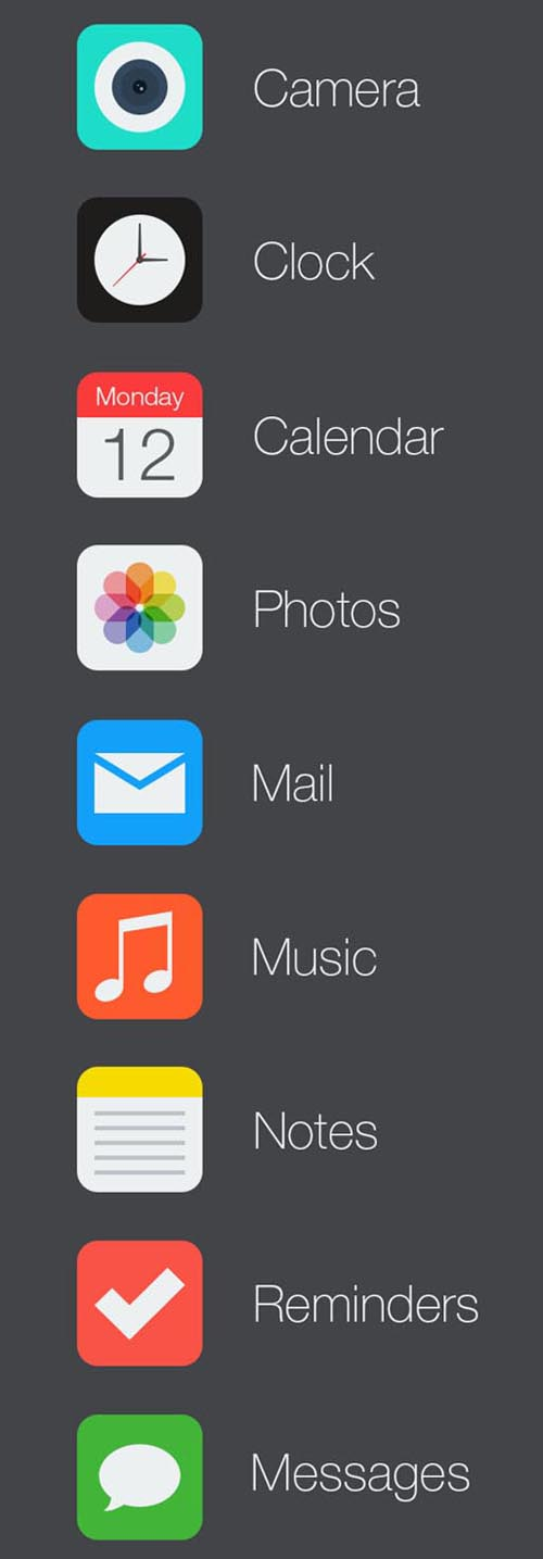 iOS 7 Icon Redesign